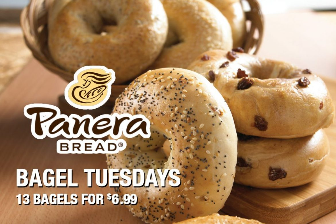 Panera Bread Bagel Tuesdays 13 Bagels For $6.99